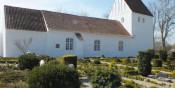 Langå kirkes historie, og billeder.